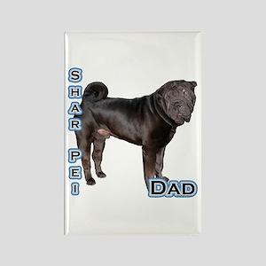 Shar Pei Dad4 Rectangle Magnet