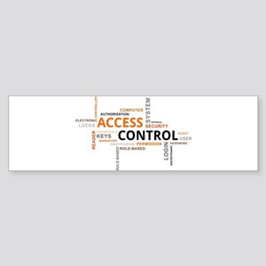 word cloud - access control Bumper Sticker