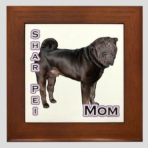 Shar Pei Mom4 Framed Tile