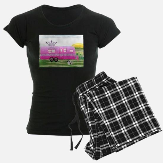 camper travel trailer camping queen Pajamas
