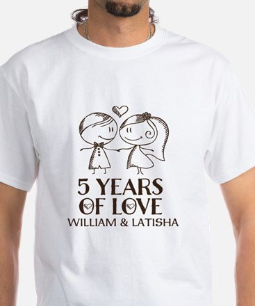 5th Wedding Anniversary Personalized T-Shirt