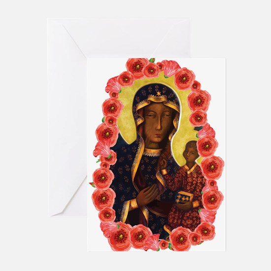Black Madonna Greeting Cards