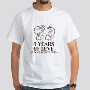 4th Wedding Anniversary Personalized T-Shirt