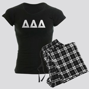 Delta Delta Delta Letters Women's Dark Pajamas
