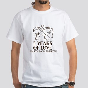 3rd Wedding Anniversary Personalized T-Shirt