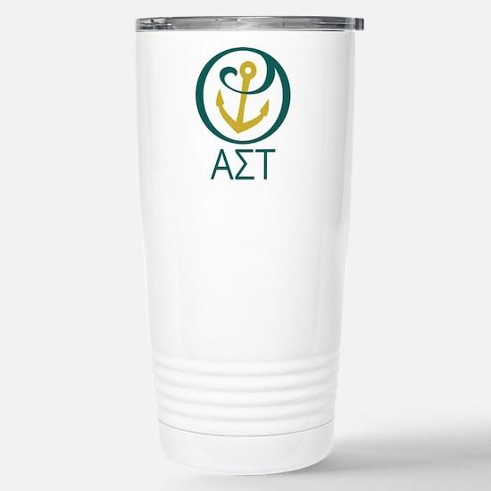 Alpha Sigma Tau Letters Stainless Steel Travel Mug