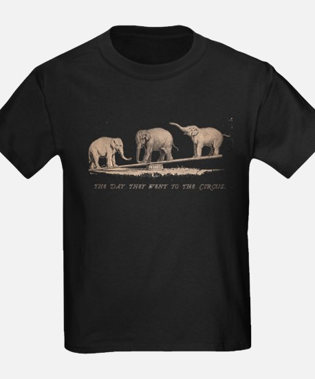 Vintage Circus Elephants T-Shirt