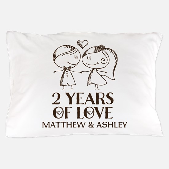 2nd Wedding Anniversary Personalized Pillow Case