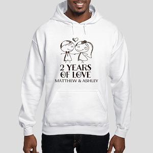 2nd Wedding Anniversary Personalized Sweatshirt