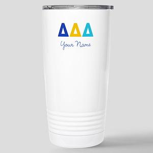 Delta Delta Delta Perso Stainless Steel Travel Mug