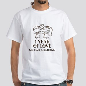 1st Wedding Anniversary Personalized T-Shirt