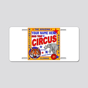 Vintage Circus Poster Aluminum License Plate