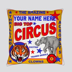 Vintage Circus Poster Everyday Pillow