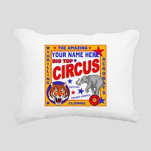 Vintage Circus Poster Rectangular Canvas Pillow