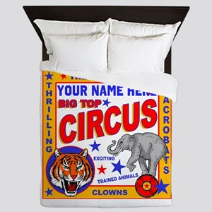 Vintage Circus Poster Queen Duvet