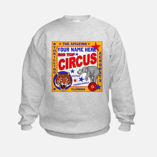Vintage Circus Poster Sweatshirt