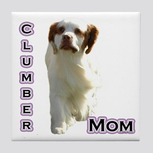 Clumber Mom4 Tile Coaster