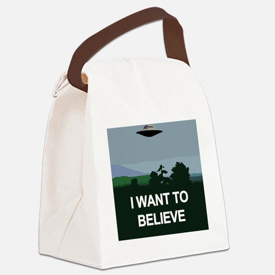 Funny Ufo Canvas Lunch Bag