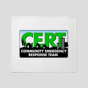 317-FINAL_CERT_logo Throw Blanket