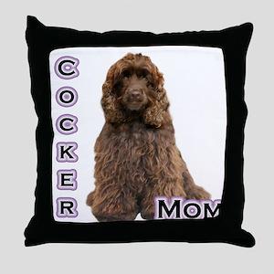 Cocker(brn) Mom4 Throw Pillow