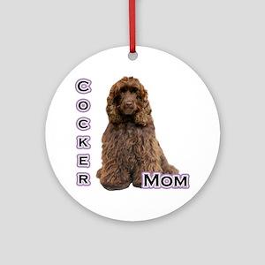 Cocker(brn) Mom4 Ornament (Round)
