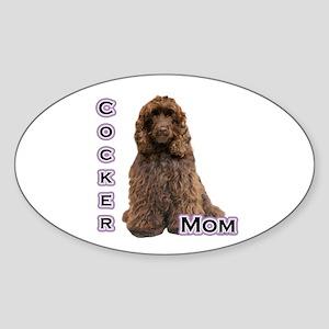 Cocker(brn) Mom4 Oval Sticker