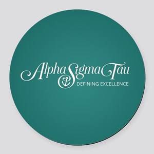 Alpha Sigma Tau Defining Excellen Round Car Magnet