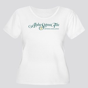 Alpha Sigma T Women's Plus Size Scoop Neck T-Shirt
