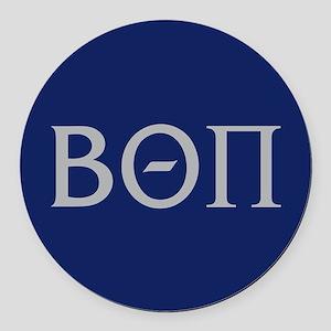 Beta Theta Pi Letters Round Car Magnet