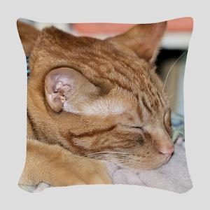 Zzzz Woven Throw Pillow