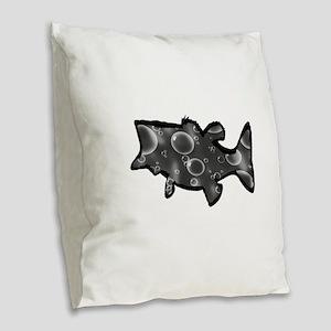 LARGEMOUTH Burlap Throw Pillow