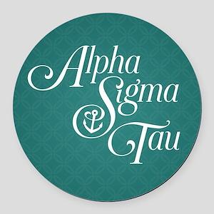 Alpha Sigma Tau Vertical Round Car Magnet
