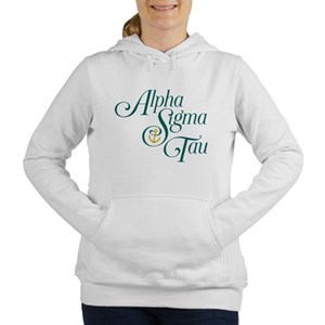 Alpha Sigma Tau Vertical Women's Hooded Sweatshirt
