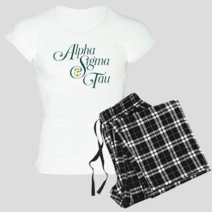 Alpha Sigma Tau Vertical Women's Light Pajamas