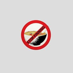STOP FINNING SHARKS Mini Button