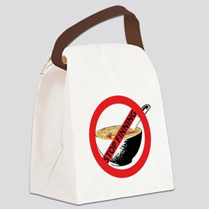 STOP FINNING SHARKS Canvas Lunch Bag