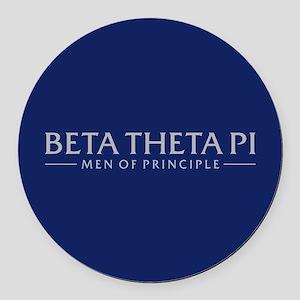 Beta Theta Pi Round Car Magnet