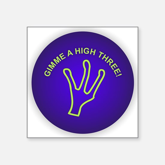 Gimme a High Three Sticker