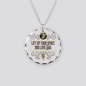 Lift Up Your Spirit Necklace Circle Charm