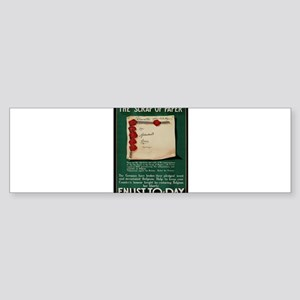 Vintage poster - The Scrap of Paper Bumper Sticker
