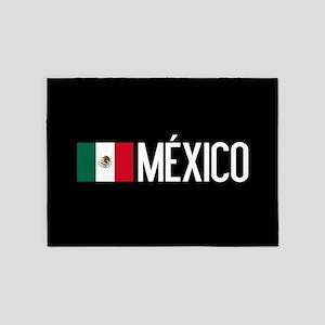 Mexican Flag & México 5'x7'Area Rug