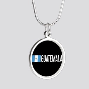 Guatemalan Flag & Guatemala Silver Round Necklace