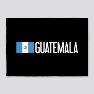 Guatemalan Flag & Guatemala 5'x7'Area Rug