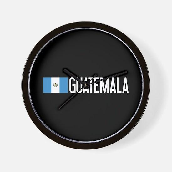 Guatemalan Flag & Guatemala Wall Clock