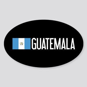 Guatemalan Flag & Guatemala Sticker (Oval)