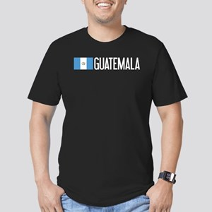 Guatemalan Flag & Guat Men's Fitted T-Shirt (dark)