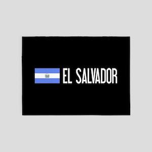 El Salvadoran Flag & El Salvador 5'x7'Area Rug
