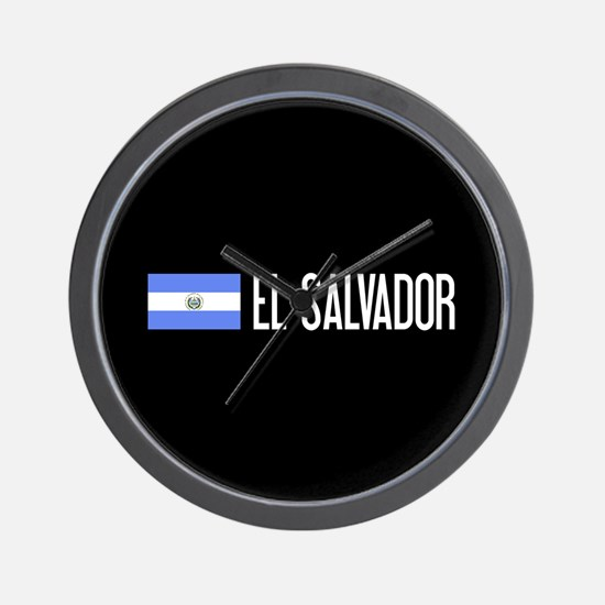 El Salvadoran Flag & El Salvador Wall Clock