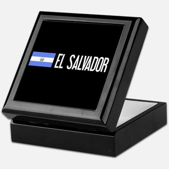 El Salvadoran Flag & El Salvador Keepsake Box