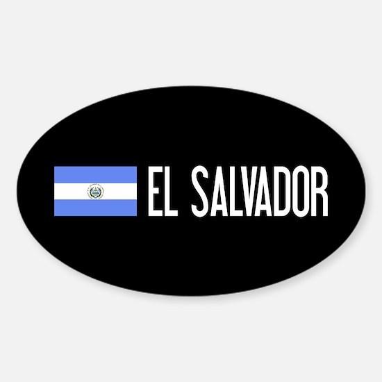 El Salvadoran Flag & El Salvador Sticker (Oval)